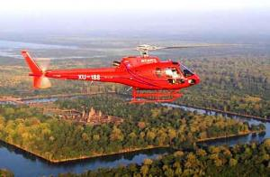 Helicopter flights over Angkor Temples